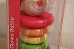 Hape Happy Clown Rattle - Rainbow Colored