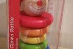 Hape Happy Clown Rattle - Rainbow Colored