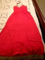 Renamed Coral Halter Maxi Dress