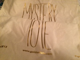 Lot of 5 Golden Tote Bags
