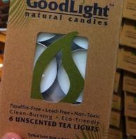 GoodLight Natural 6 Tea light Candles  unscented