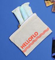 HelloFlo canvas pouch