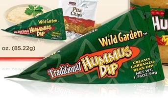 Wild Garden hummus Roasted Garlic 2 packs x 1.76oz