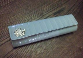 Gray/Silver clutch