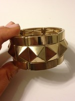 Gold geometric stud cuff