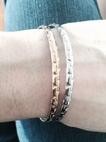 Gold and Silver tone bangles