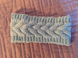 Mint Cable Knitted Headband