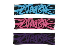 Zumba Fitness Geo 2-way Headband in Pink
