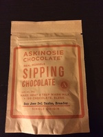 Askinosie chocolate real morsels sipping chocolate