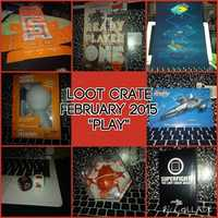 """Loot Crate February 2015 """"Play""""- Entire Box"""