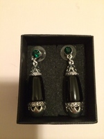 Jewelmint Little Black Earrings