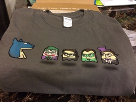 geek fuel exclusive batman/pacman tshirt
