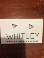 Whitley Designs earrings - triangle studs