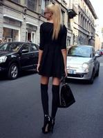 Black Over The Knee Socks