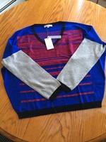 Les Petites Red V-Neck Sweater
