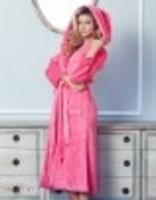 Julienne Long Sleeve Hooded Robe- XS