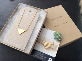 Gold Inverted Triangle Necklace