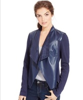 Kut from the Kloth Faux-Leather Draped Jacket