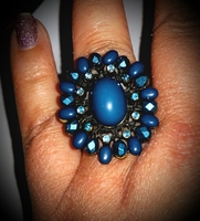 Blues Statement Ring