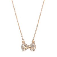 Jules Smith Gold Bow Charm Necklace