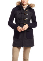 Coffeeshop Wool Colorblock Toggle Coat