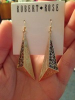Robert Rose Gold Triangle Earrings