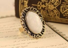 Vintage Bohemian Solitaire Ring