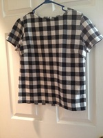 Black and white plaided shirt