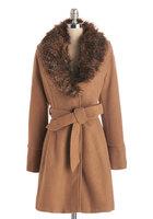 Steve Madden Faux Fur Coat (camel)