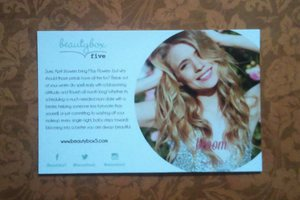 Beauty Box 5 April 2015 box info/product card