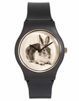 MAY 28TH Rabbit Watch Black Matte Plastic Buckle