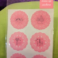 Dress Up Stickers Set From Japan (Set of 10 Stickers)