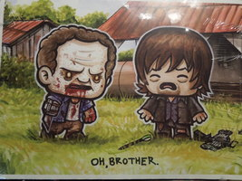 Loot Crate Exclusive The Walking Dead Oh Brother Print