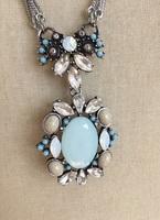 Meridian silver pendant