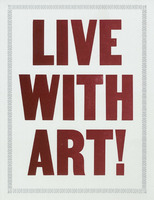 """Live with Art"" hand-letterpressed, limited edition print by Doug Wilson"