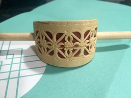 Carved Birch Wooden Hairpin