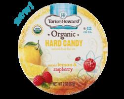 Torie & Howard meyer lemon & raspberry hard candy tin