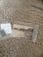 French antique post card & keychain with film