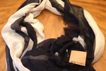 Steve Madden Black and Cream Scarf