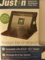Rechargable tablet case