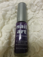 """Nail Art by Diamond Cosmetics in """"Purple Shimmer"""""""