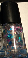 Blue & Purple Hearts Glitter Nail Polish