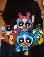 PuffTales T-Shirt Powder Puff Girls Donald Duck Mash-Up