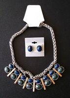 Olia Box Blue/Green Necklace