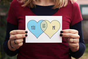 You + Me = Us // Single Card // Greeting Card //