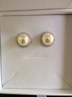 """Kimberly """" Bright"""" Pearl Earrings"""