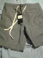 bateman shorts grey