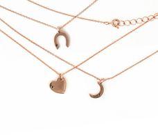 Wren Rose Gold Moon Necklace