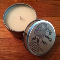 Big White Yeti Candle Tin