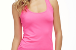Oula Tank in Pop Pink